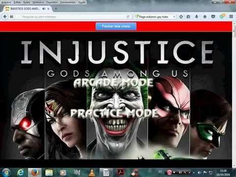 BURACO DO FURACOBACO Hel (YOUTUBE): JOGANDO ONLINE GAME INJUSTICE GODS AMONGS US OS SU...