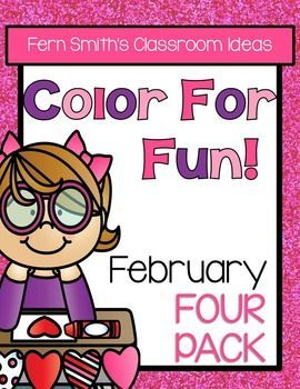 Color For Fun February Four Pack of Printable Coloring Pages {87 coloring pages equals less than 10 cents a page.} ♦ This convenience bundle contains the following FOUR resources: 1. Groundhog Day 2. St. Valentine's Day  3. 100th Day of School and 4. Dental Health Month  #ColorForFun #100thDayofSchool #FireSafety #February #DentalHealth #Valentines #ValentinesDay #GroundhodDay #TPT $Paid