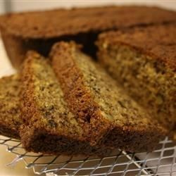 This is my mom's dense, excellent, and definitely unhealthy banana nut bread recipe.  It's always completely gone in minutes.  This is great at parties, but hazardous at home.  HEALTH WARNINGS: EBNB may be habit forming.