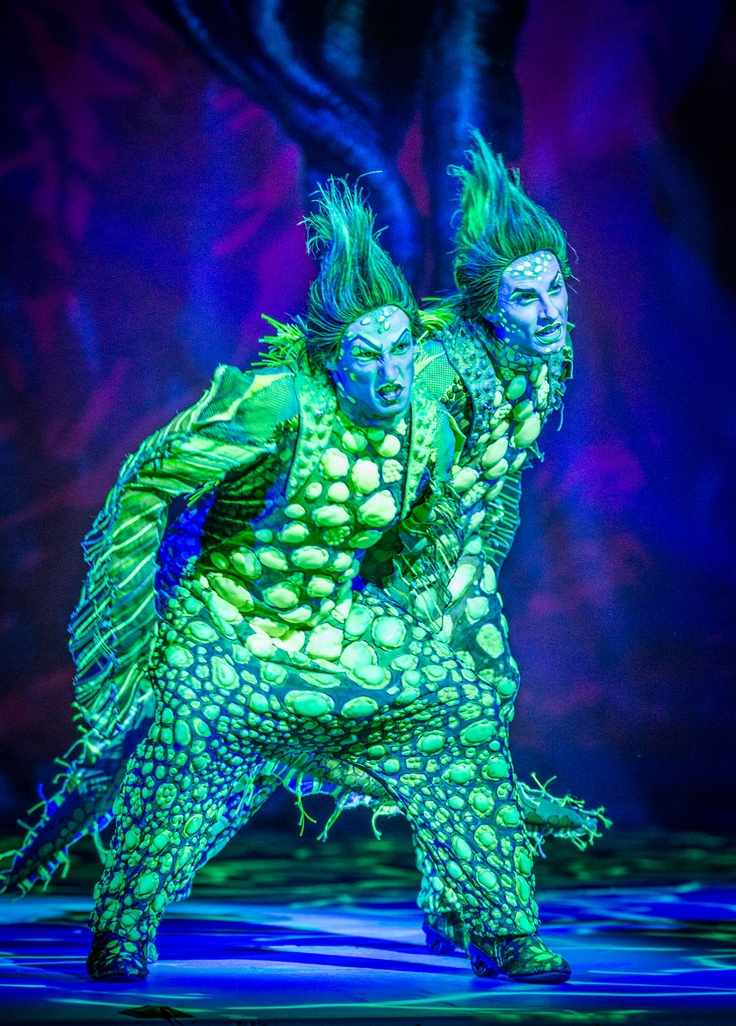 "Scott Leiendecker as Flotsam and Sean Patrick Doyle as Jetsam in ""Disney's The Little Mermaid"", Pittsburgh CLO. Photo Billy Bustamante. #DisneysTheLittleMermaid #PittsburghCLO"
