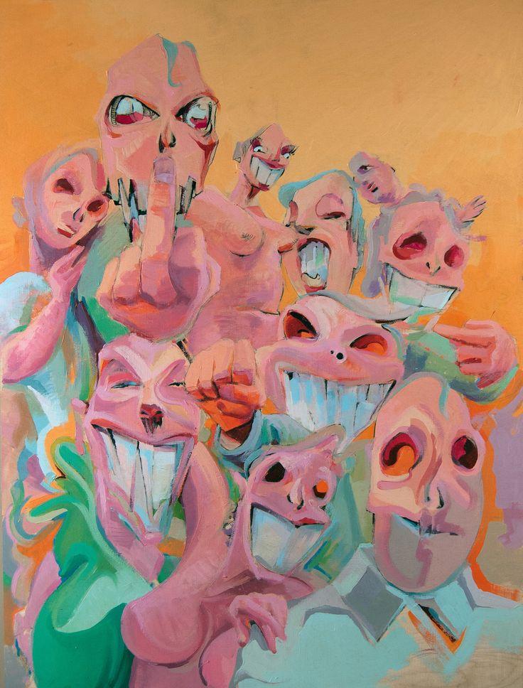 Maszkarony #acrylic #artforfun #tybur