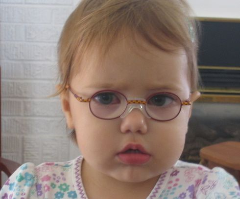 e2dc2477f471 HOW WILL I EVER GET MY CHILD TO WEAR GLASSES  Zoe was not always happy in  glasses. Sometimes