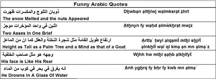 Funny Arabic Quotes - Learn Arabic - Importance of Arabic