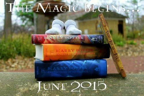 The Burgess family announcement! A Harry Potter themed pregnancy announcement!