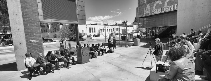 Los Angeles City College reading Dr. King's Letter.