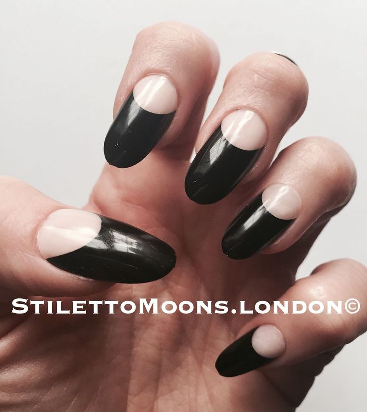 Funky French Manicure Stiletto Nails Picture Elaboration - Nail Art ...