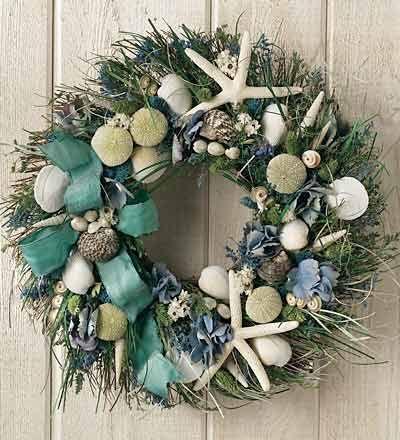 Seashore Wreath: Beach House, Seashell, Summer Shore, Shore Wreath, Summer Wreath, Wreaths, Coastal Christmas