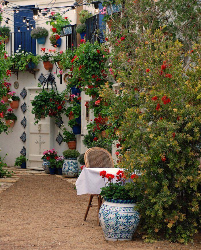 ... style espagnol jardin méditerranéen petit jardin terrasse andalouse
