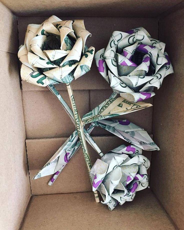 Money roses money flower origami money rose dol…
