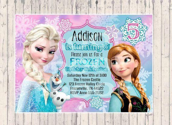 Frozen Birthday Party Invitation Template Beautiful Frozen Invitation On Etsy A Global Frozen Birthday Invitations Disney Frozen Invitations Frozen Invitations