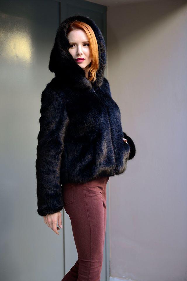 Black Furry Coat! Find it in Lili Hatzopoulos boutique