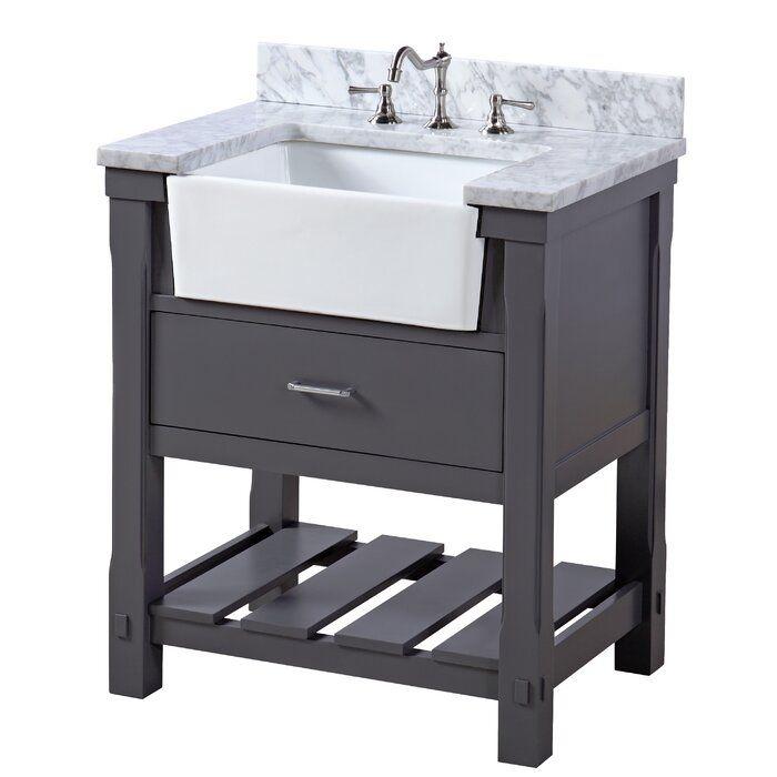 Farmhouse Rustic 30 Inches Bathroom Vanities Birch Lane In 2020 Single Bathroom Vanity Small Bathroom Vanities 30 Inch Bathroom Vanity