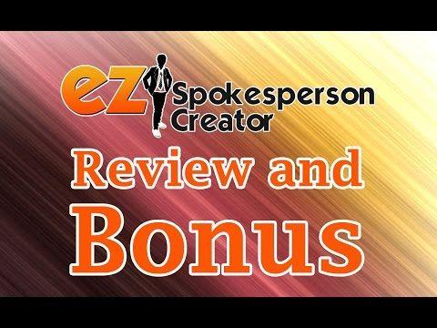 EZ Spokesperson Creator REVIEW AND DEMO