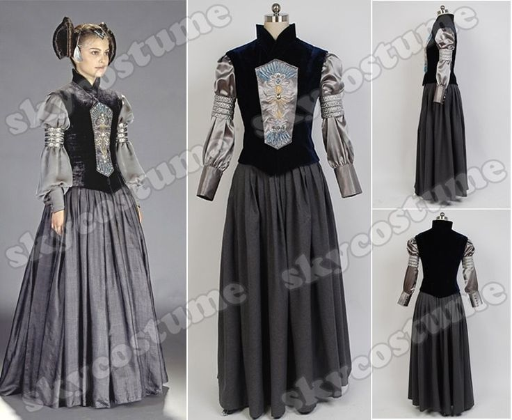 Star Wars Padmé Naberrie Amidala Dress suit Movie Cosplay Costume from Star Wars