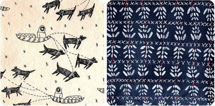 Inuit Patterns By Liviap Art Print Pinterest