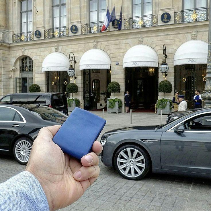 Nero Wallet - Blue Smooth Leather - Ritz Paris