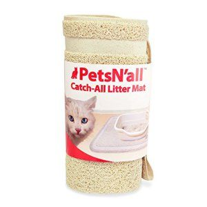 PetsMart Litter Trapper contrôle Scatter Catch-All Mat Cat Litter – Super Size 35×24 Pouces – Beige, XL, Facile à nettoyer Kitty Litter…