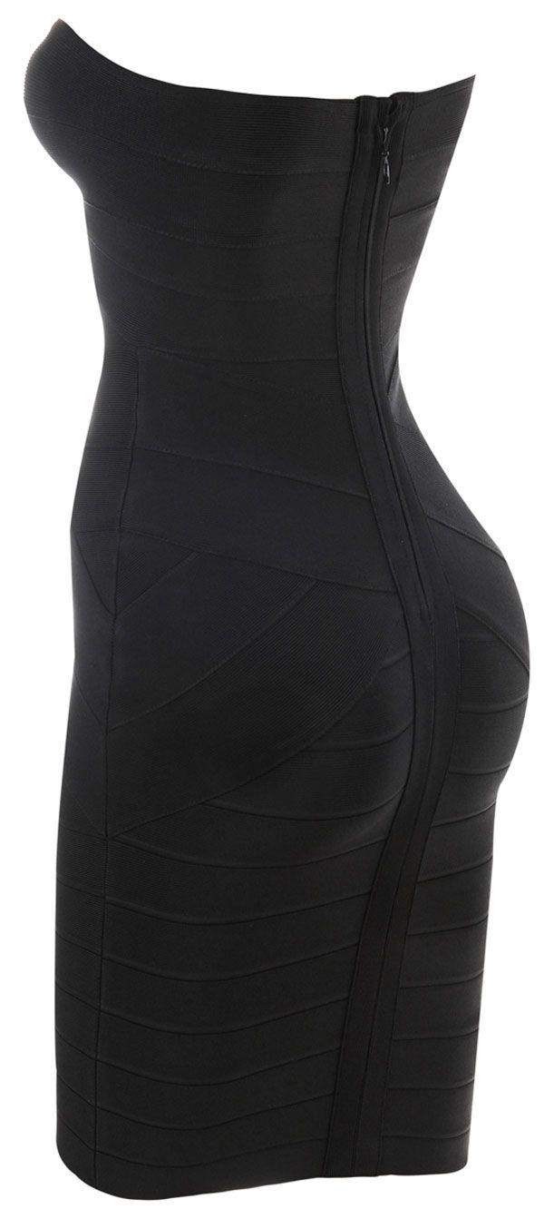 Leyla Black Bandage Dress