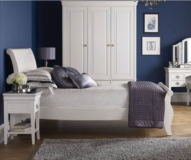 598 00 The Bentley Designs Chantilly White Bed Frame Is A Fantastic Looking