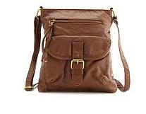 Leatherette Cross-Body Bag