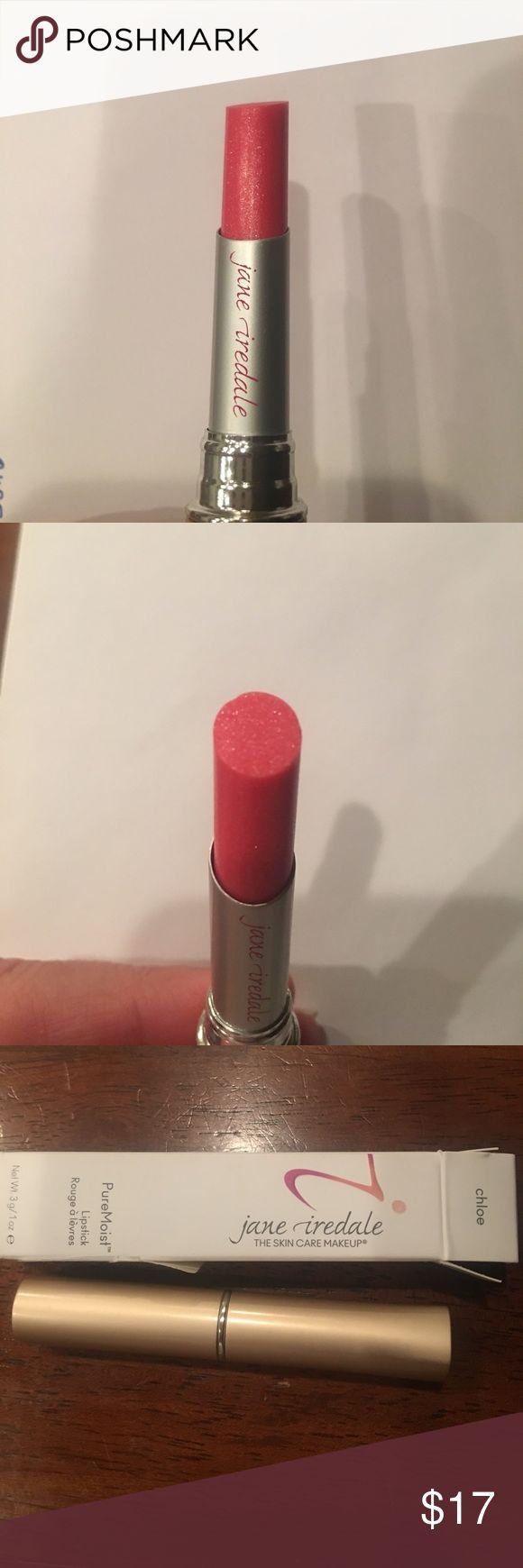 Jane Iredale PureMoist lipstick Chloe Brand new, untouched.  Jane Iredale PureMoist lipstick in Chloe.  SRP of $25. Jane Iredale Makeup Lipstick