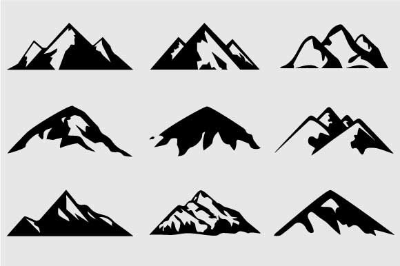 Mountain Shapes For Logos Vol 3 - Shapes - 1 | Mountains ...