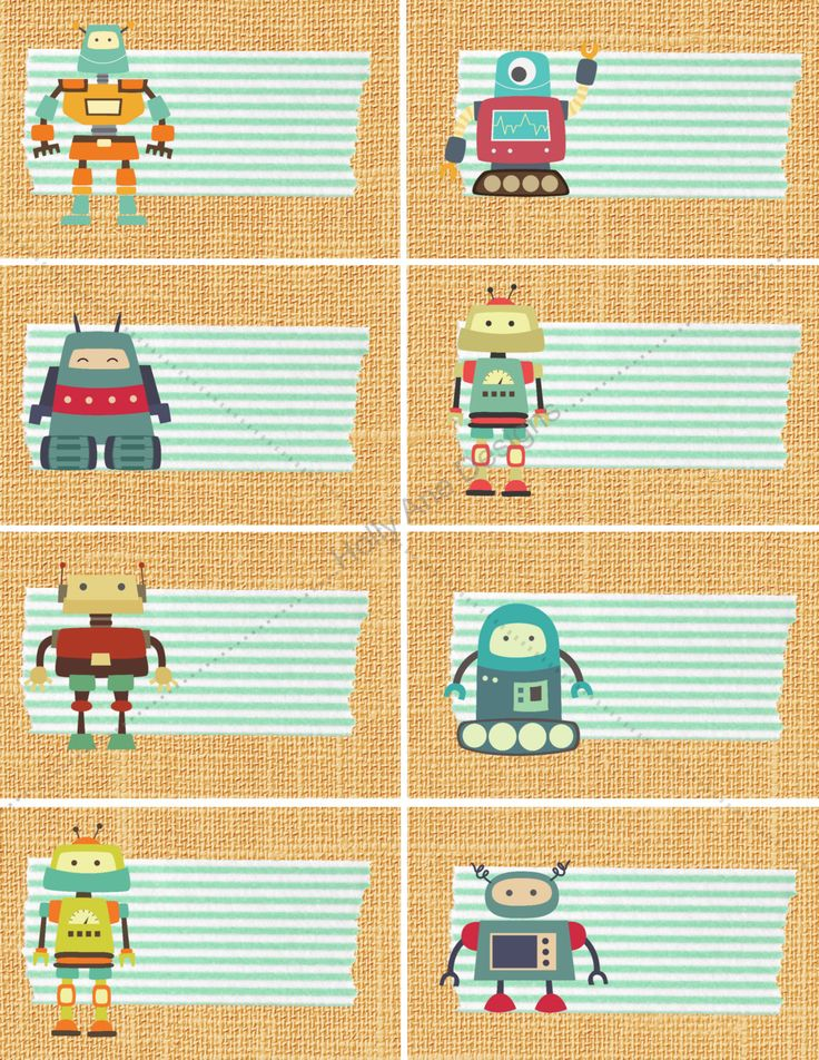 robot themed LABELS, 8 printable editable labels,organize child's room,boy's girl's robot bedroom,label bins notebooks drawers classroom by beautifulwallsnow on Etsy https://www.etsy.com/listing/264200535/robot-themed-labels-8-printable-editable