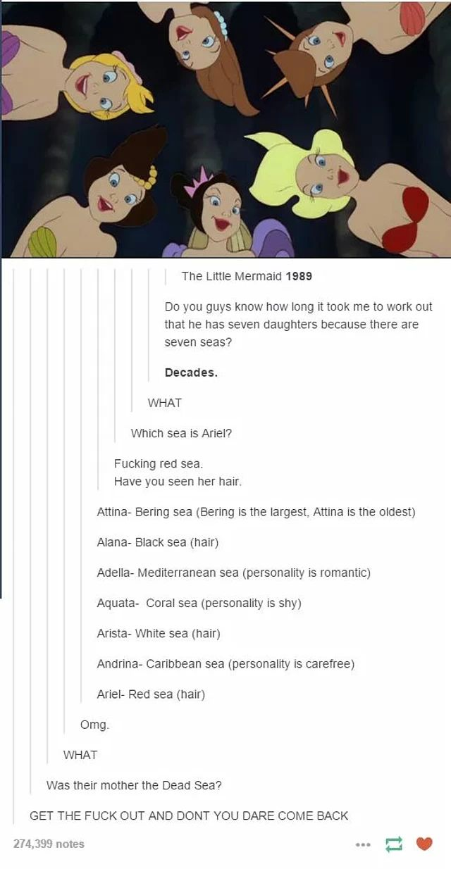 6 Times Tumblr Users Dove Under the Sea and Understood The Little Mermaid | moviepilot.com