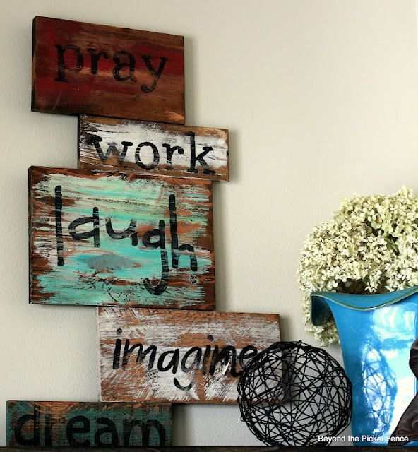 Beyond The Picket Fence...great pallet and painting ideas