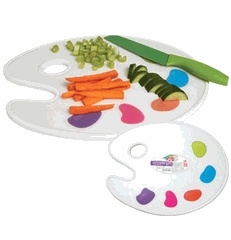 Painting party serving tray: Decor Crafts, Creative Kitchens, Boards Serving, Art Parties, Cut Boards, Art Palettes, Cutting Board, Art Show, Kitchens Palettes