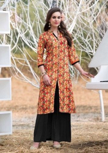 Buy Best Women Kurti Online In India – Lacira  Finest Collection of anarkali, designer and printed Kurti buy online at lacira fashion. Shop latest printed kurti online in india. Your style will be the talk of the town when you wear this elegant front cut kurti by Lacira. An ideal pick for every occasion, you will absolutely love adding this piece to your collection.