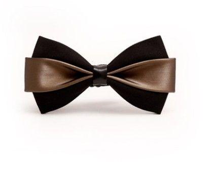 2017 new new men's bow tie PU dress Korean version of the British wedding groom host men and women bow tie bow
