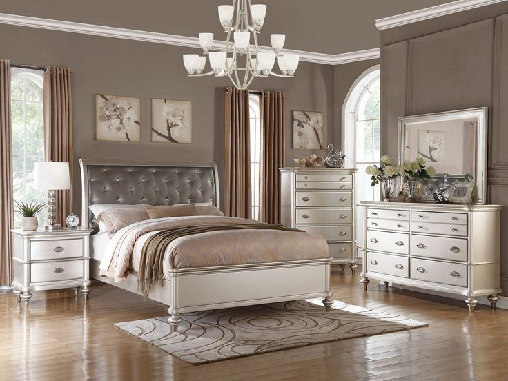 King Bed Frame Only in Silver