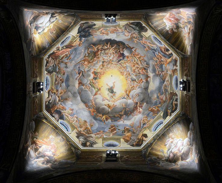 Corregio, Virgin Assumption, fresco, Parma, cathedral copula.