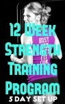 My 12 Week Strength Training Program - 5 days a week in a GYM  #fitness #fitspiration #strong #workout #motivation #busymomgetsfit