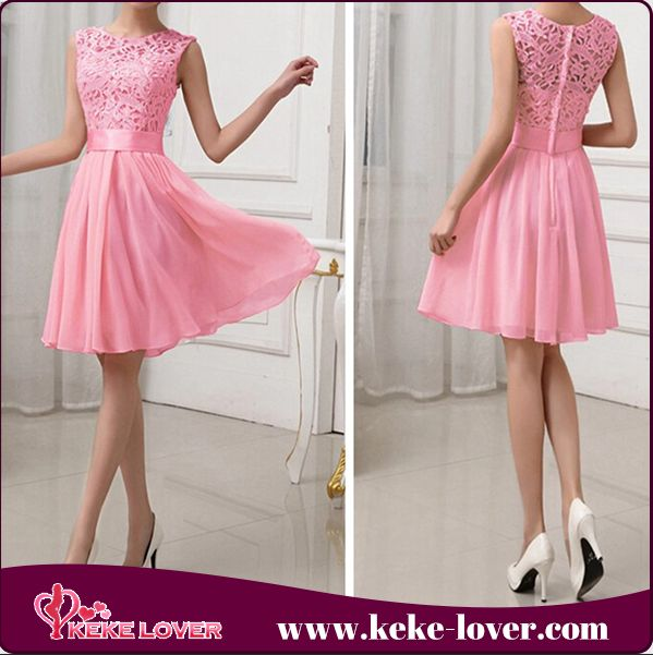 2015 latest design fashion summer dresses short sleeve chiffon and lace dreses high quality hollow out women casual dresses