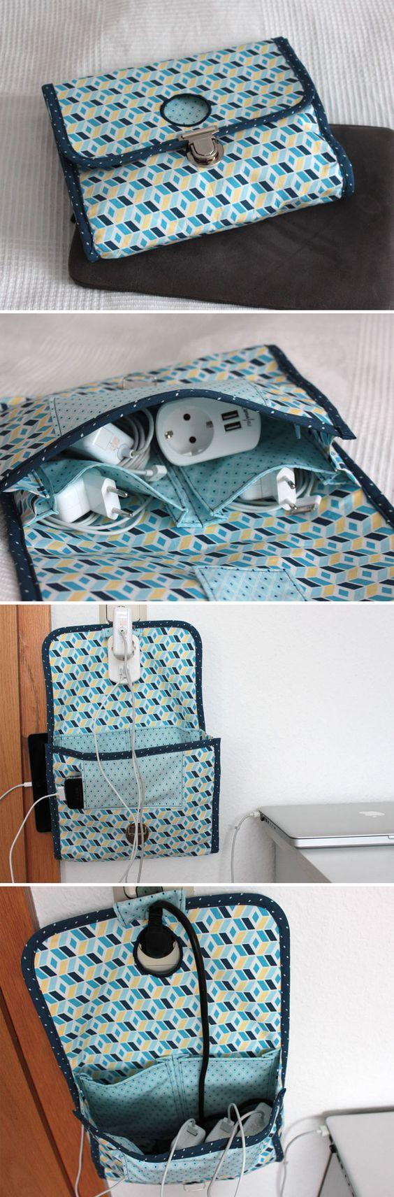 Kabeltasche - Marks perfekte Reise-Kabeltasche/Tasche für Kabel und Ladegeräte - Das ist meine Vorstellung einer perfekten Lösung für den Kabelsalat auf Reisen. Hier findet Ihr die kostenlose Anleitung, als PDF-Download/Freebie. Ich wünsche Euch viel Spaß