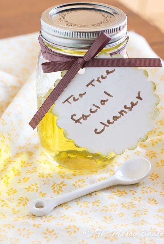 Homemade Tea Tree Oil Facial Cleanser - The Messy Baker Blog