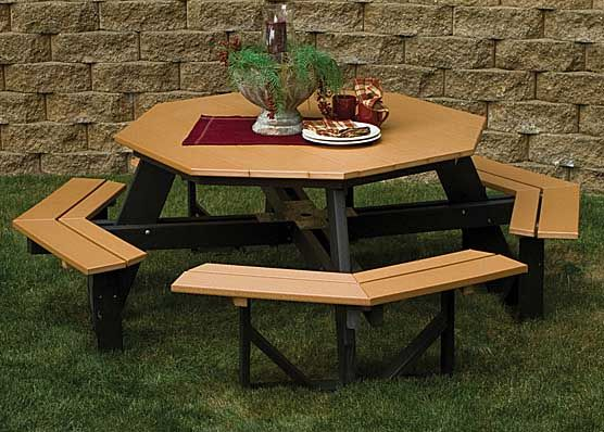 Lovely Poly Lumber Octagonal Picnic Table