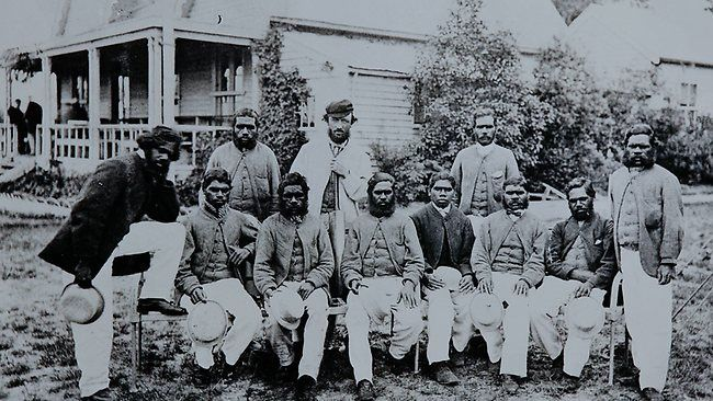 """""""In 1868, an Aboriginal team became the first Australian cricket side to tour England. The highbrow London Times said it was a travesty the conquered natives of a convict colony were allowed to appear at Lord's, but the group ignored the jibes and captured local attention with boomerang and spear-throwing exhibitions after stumps."""""""