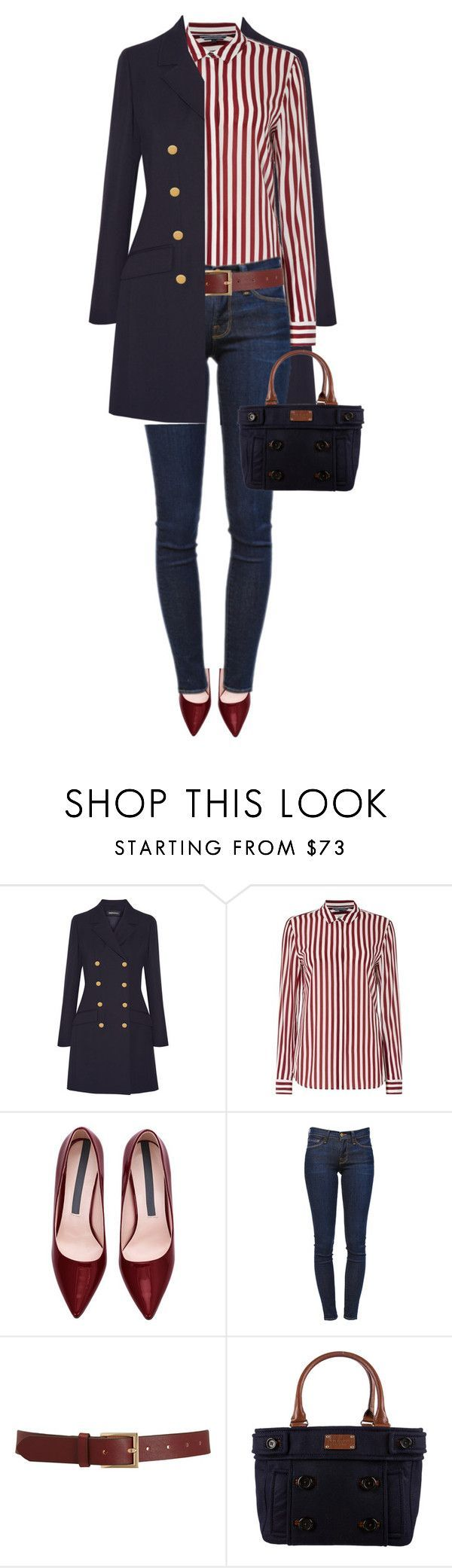 """Untitled #1225"" by ruru833 ❤ liked on Polyvore featuring Vanessa Seward, Tommy Hilfiger, Frame Denim, Barneys New York and Kate Spade"