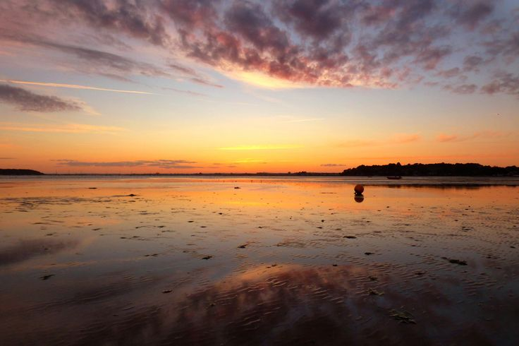 https://flic.kr/p/wqXSvv | Reflections in the sand....Explored. | A capture from a while ago. Poole harbour during sunset and low tide. Such dull and wet weather i needed to post some thing sunny.