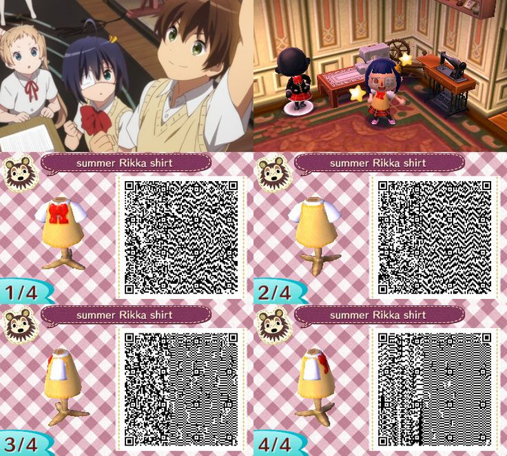 Animal Crossing: New Leaf QR codes for shirts on Pinterest ...