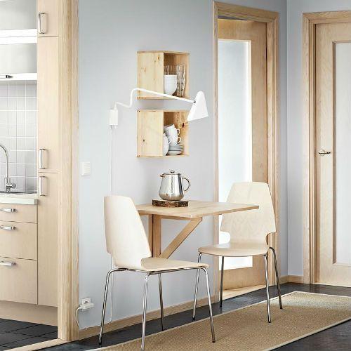 Table murale à rabat IKEA Norbo pour l'aménagement d'une petite cuisine