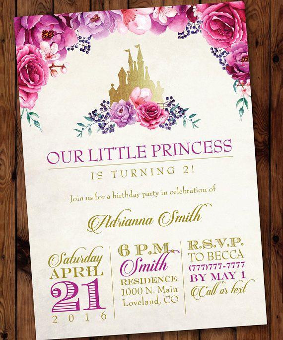 Little Princess Invitation Princess Birthday Invitation