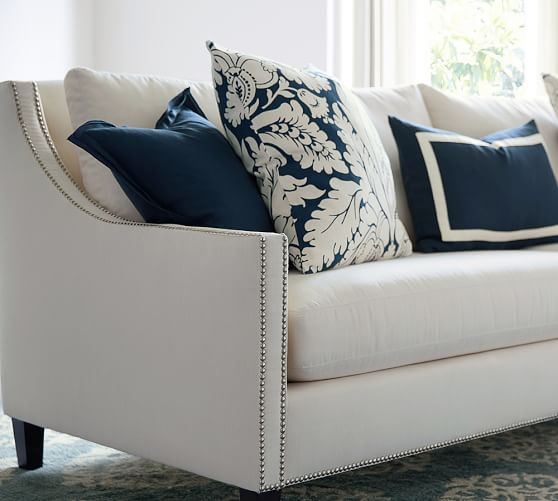 Pasadena Upholstered Sofa Navy Sofa Living Room