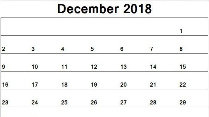 December 2018 Calendar Activities for Kids December 2018 Calendar