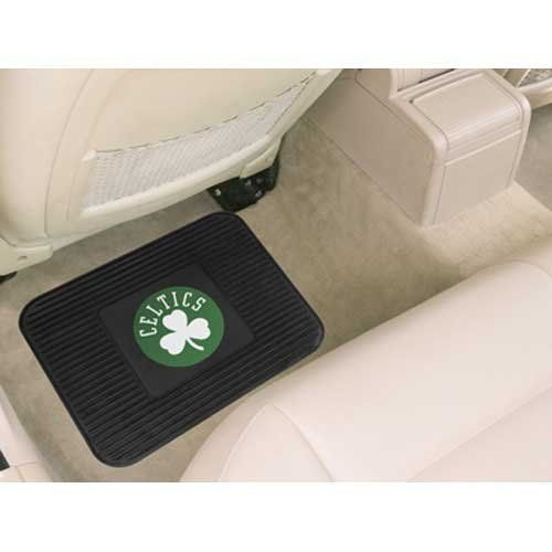 """Fanmats Boston Celtics Utility Mat by Fanmats. $12.88. Durable construction. Officially licensed. Dimensions: L 18"""" x W 14"""". Utility mat. Decorated with the team logo. Protect the floor of your car with this Fanmats® NBA utility mat. It features a durable construction and is boldly decorated with the team logo.. Save 14% Off!"""