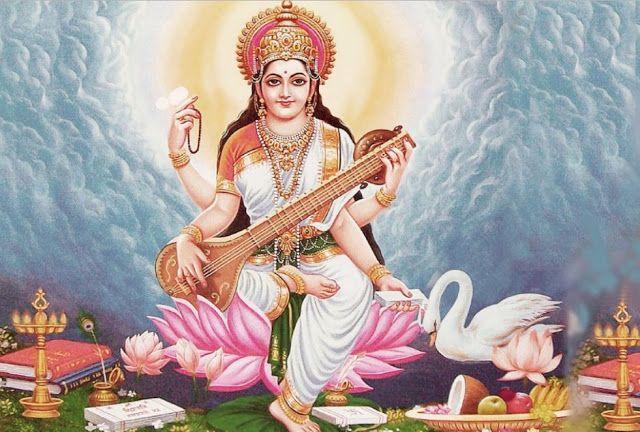 10 Best Goddess Saraswati Maa Hd Wallpapers Photos Free Download 2018 Entertainment Devotional Wallpapers Saraswati Goddess Basant Panchami Hindu Gods