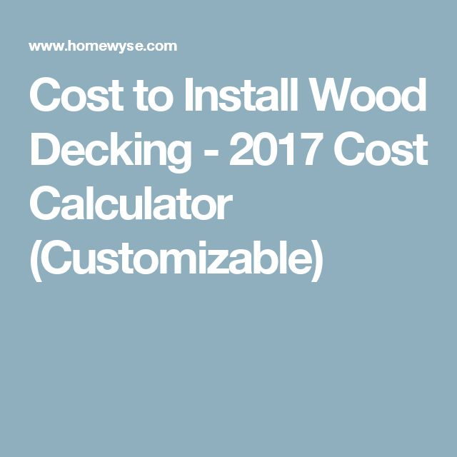 25 Best Ideas About Deck Cost Calculator On Pinterest